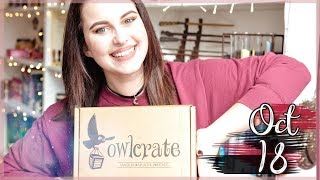 OWLCRATE OCTOBER 2018 UNBOXING: LIBRARY | Book Roast