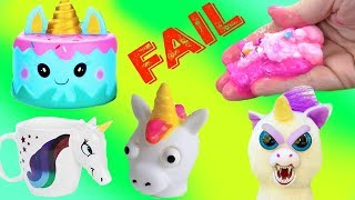 Wacky Unicorn Slime FAIL Wednesday & Cutting Open Squishies