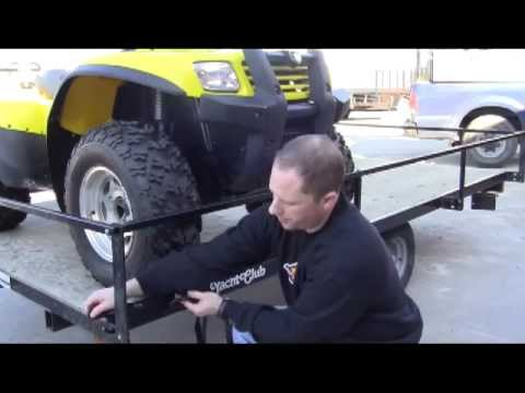 0 Tie Down An ATV Using Cam Straps