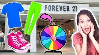 3 KLEUREN ROULETTE OUTFIT SHOPPEN CHALLENGE! || Fan Friday