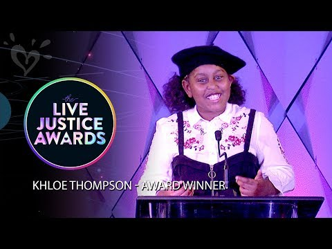 KHLOE THOMPSON - AWARD WINNER - PRESENTED BY TRINITEE STOKES 💗 LIVE JUSTICE AWARDS