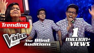 Veenath Sathsara | Punyawantha Blind Auditions | The Voice Teens Sri Lanka