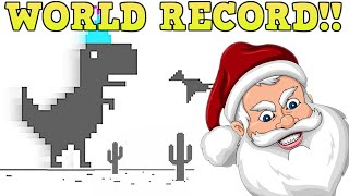 Playing chrome dinosaur BUT every LIKE makes it Faster(WORLD RECORD 1 YEAR)