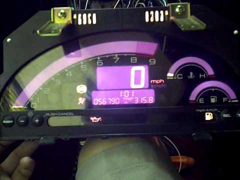 Testing Ap2 S2000 Cluster on Acura Rsx/Honda DC5 - YouTube