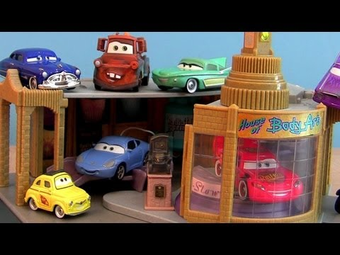 Ramone's House of Body Art Paint Shop playset Cars From Radiator Springs Disney Pixar toys review