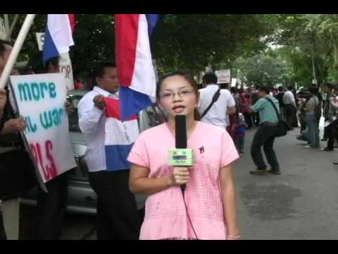 Burma Ethnics Protests at Myanmar Embassy in Malaysia