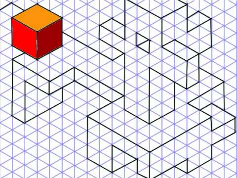 Isometric Dot Drawings Isometric Drawing And 3d Cubes