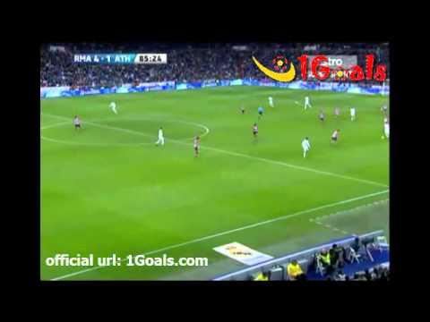 Real Madrid vs Athletic Bilbao 4-1 Jose Callejon Goal 22.1.2012 Spain Primera Liga