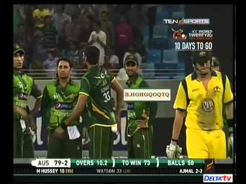 Saeed Ajmal vs Shane Watson - Ajmal's reactions :D