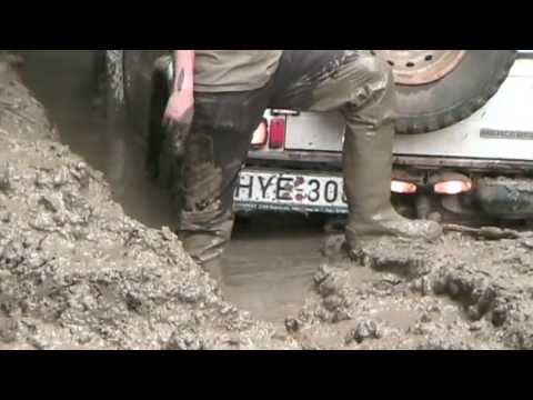 Stuck car and wellies in thigh-deep mud (Somogybabod 2013)