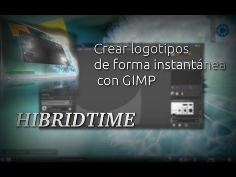Crear logotipos de forma instantánea en Gimp