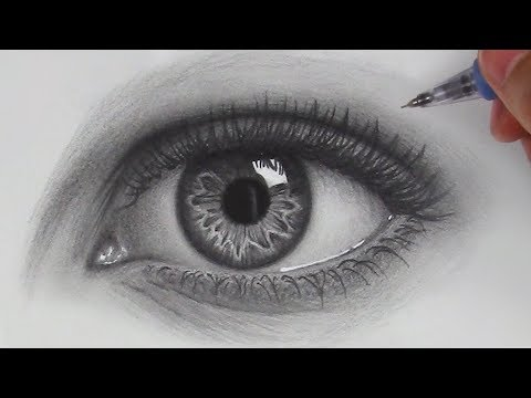 How to Draw Hyper Realistic Eyes  Step by Step