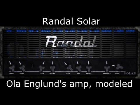 Randal Solar (Ola Englund´s Satan Modeled) - Virtual High Gain Amp - Metal Tone Test (Free Plugin)