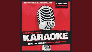 Creepin 39 Originally Performed By Luther Vandross Karaoke Version