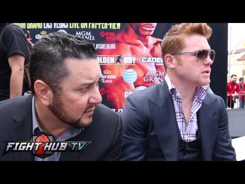 Canelo vs Lara scrum Canelo on Mayweather vs Maidana Lara offending Mexican fighters