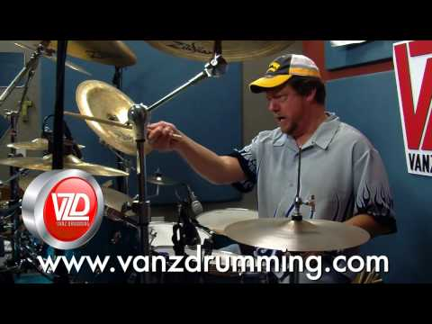How to Play Drums - Blazing Paradiddle-Diddles on the Kit - Vanz Drumming #1