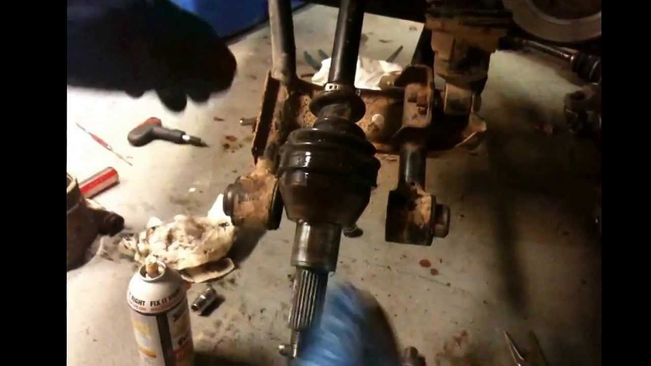 how to remove the rear axles on a polaris