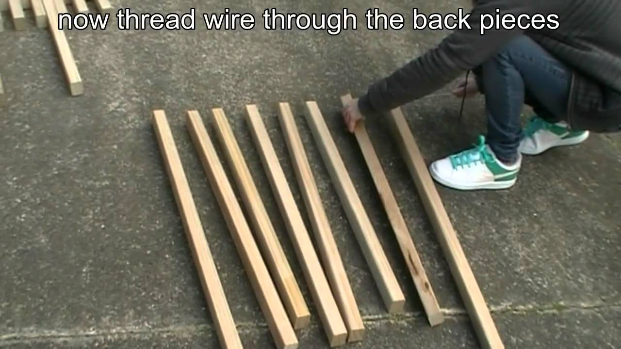 How To Make A Folding Kentucky Stickchair Youtube