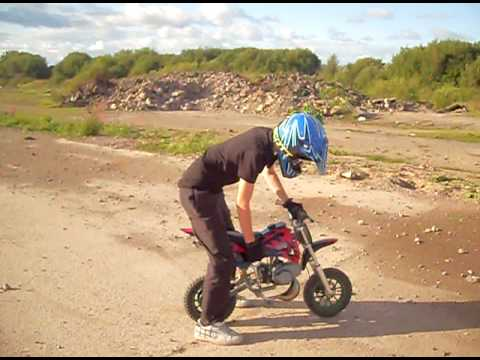 50cc mini dirt bike youtube. Black Bedroom Furniture Sets. Home Design Ideas