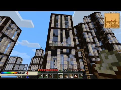 Minecraft - Crash Landing #7: City Scouting