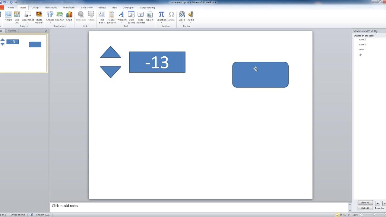 Scoreboard Template Powerpoint