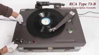 RCA Type 73-B Professional Transcription Turntable