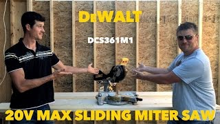 "DeWalt 20 Volt Max 7 1/4"" Sliding Miter Saw DCS361M1 Review"