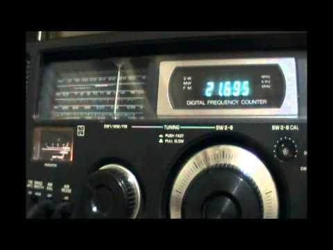 Radio Free Asia (relay Dhabbaya, United Arab Emirates) vs Chinese jamming - 21695 Khz