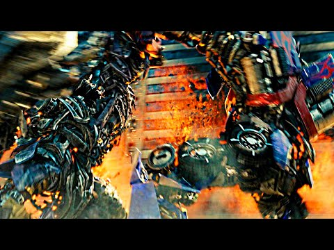 Transformers dark of the moon Optimus prime vs Shockwave (1080pHD VO)