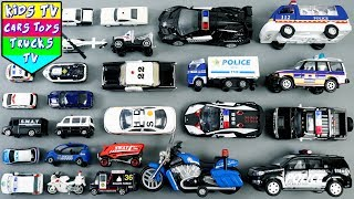 Learn Police Vehicles For Kids Children Babies Toddlers | Emergency Vehicles | Kids TV | Kids Toys