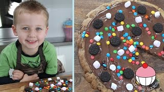 KIDS GIANT NUTELLA COOKIE PIZZA - Cooking With Squish Kids Recipe