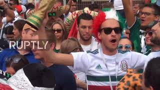 Russia: Boisterous Mexico fans get psyched up for South Korea clash in Rostov-on-Don