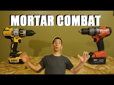 DeWALT VS MILWAUKEE Part 1 - Heavy Duty Brushless Hammer Drill Challenge