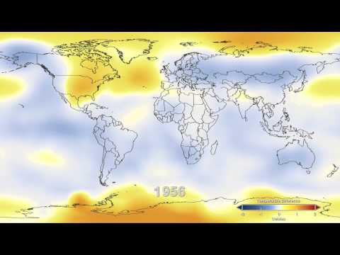 Global surface temperatures, 1937-2011