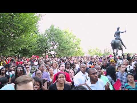 D.C. holds moment of silence for Michael Brown