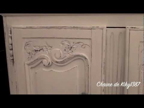 Patine sur meuble ancien tutoriel youtube - Patiner meuble ...