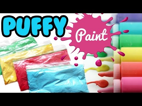 How to Make PUFFY PAINT Tutorial ONLY 3 Ingredients   Toy Caboodle
