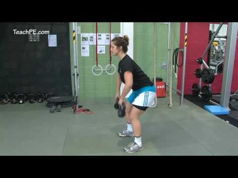 Weight Training Fitness Workout - Bent Over Kettle Bell Row Image 1