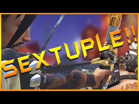 SEXTUPLE To Ragequit - [Hanzo Insanity] Overwatch Gameplay #60