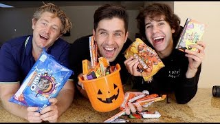 HALLOWEEN CANDY MUKBANG! FT DAVID DOBRIK AND JASON NASH