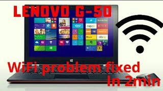 Lenovo G50 Connection problem solved