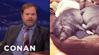 Rainn Wilson Went Vegan For His Pet Pigs  - CONAN on TBS