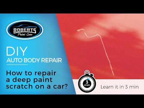 DIY: How to repair a deep paint scratch on a car?