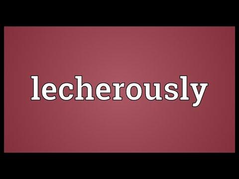 Header of lecherously
