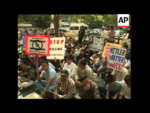 Muslim protests outside Israeli embassies in Thailand and Philippines