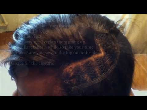 How to do a Sew-in invisible Part.