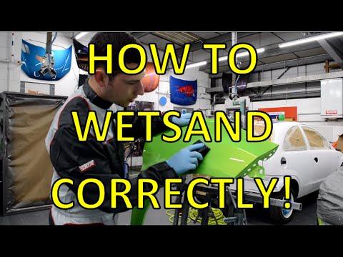 How to Wet Sand - wet flatting before polishing