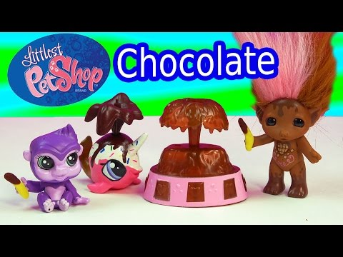 LPS Bobblehead Gorilla Littlest Pet Shop Chocolate Scented Troll Zelf Toy Review Unboxing Video