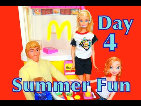 FROZEN Barbie McDonald's Summer FUN Countdown DAY 4 Disney Tangled SHOPKINS AllToyCollector