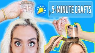 Trying Hacks from 5-Minute Crafts 25 COOL HAIRSTYLES TO MAKE (UNDER A MINUTE)
